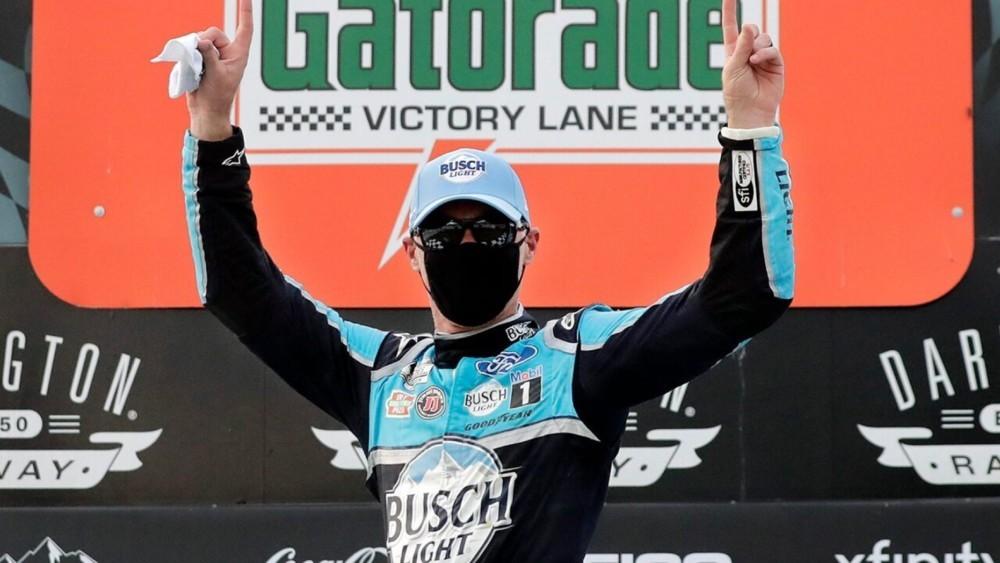 NASCAR returns as Kevin Harvick wins Darlington