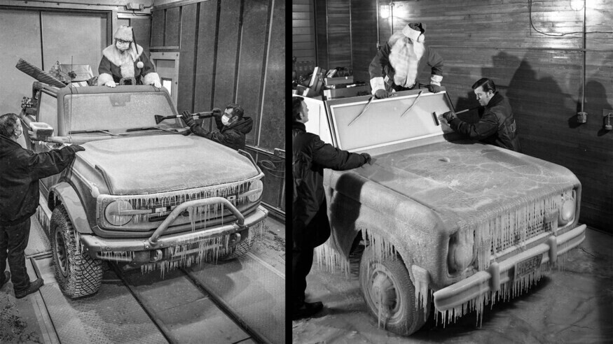 Ford discovers, recreates long-lost photos of Santa with a 1968 Bronco