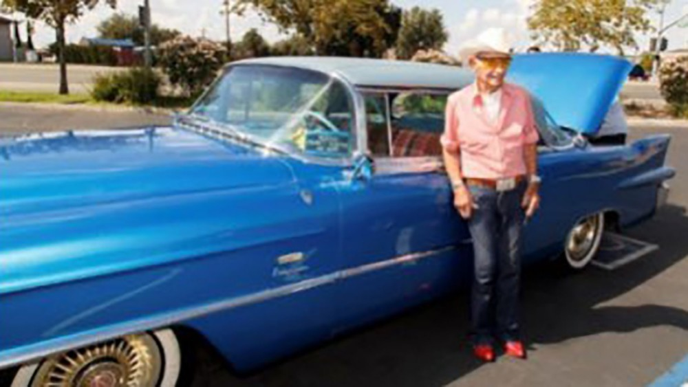 Curly Bunfill's stolen classic Cadillac that was gifted by Rita Hayworth found