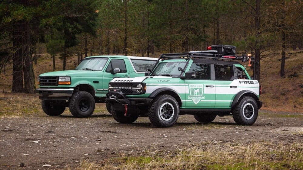 2 custom Ford Bronco firetrucks being donated to forestry services