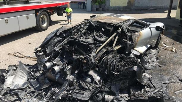 New $450,000 Ford GT Burns In Germany