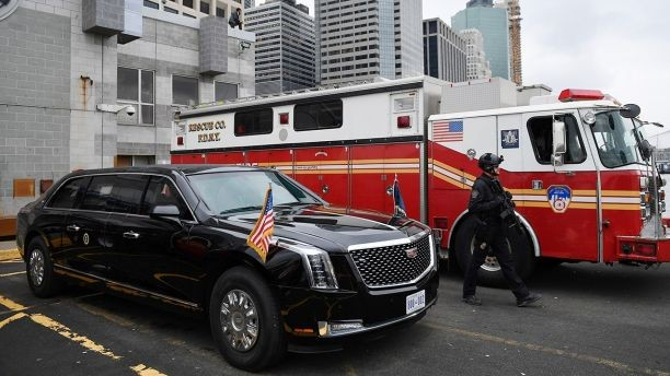 Trump's New 'Beast' Limousine Spotted In New York City