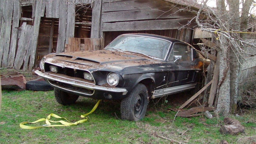 Barn Find 1968 Ford Mustang Shelby GT500 Headed For Auction