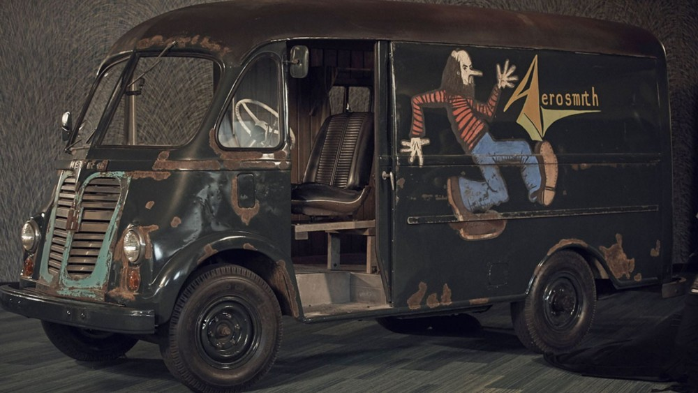 """Original Aerosmith Tour Van used in the 1970s found by """"American Pickers"""""""