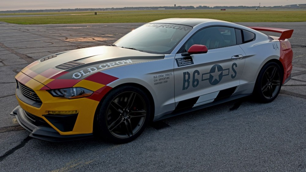 World War II Flying Ace C.E. Bud Anderson honored with Old Crow Ford Mustang Tribute Car
