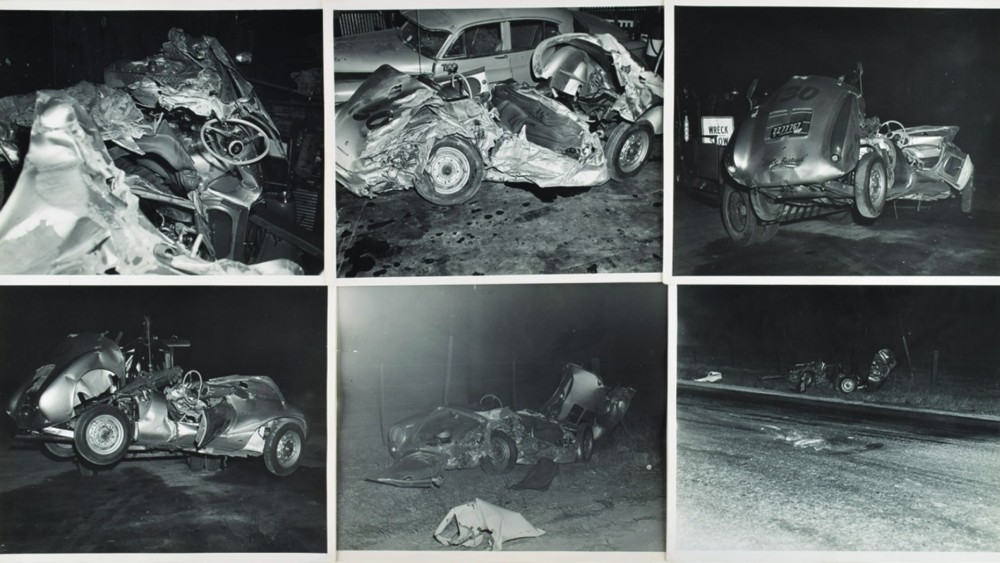Rare photos of James Dean's fatal accident scene going to Auction