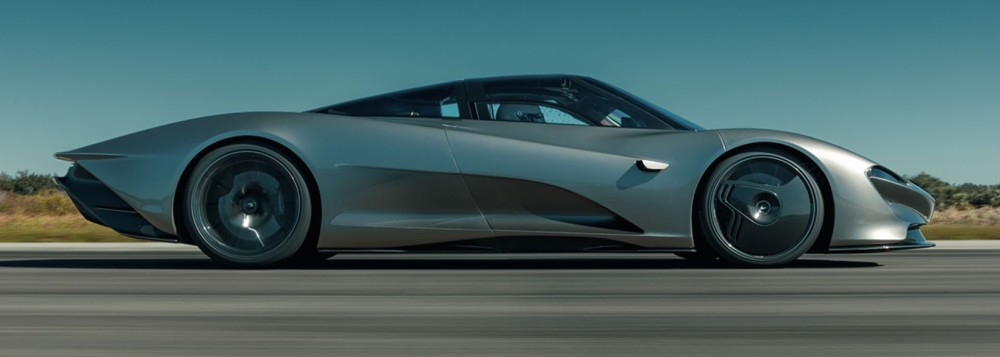 The McLaren Speedtail reaches 250 MPH on the Space Shuttle runway