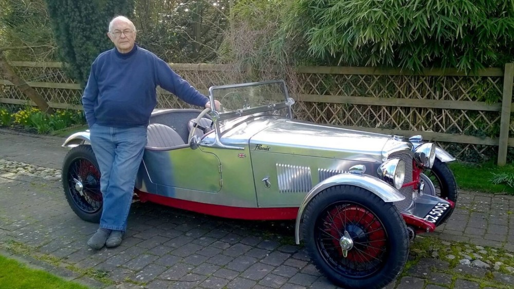 Classic 1934 Riley 'Phoenix' sports car burned in barn fire restored