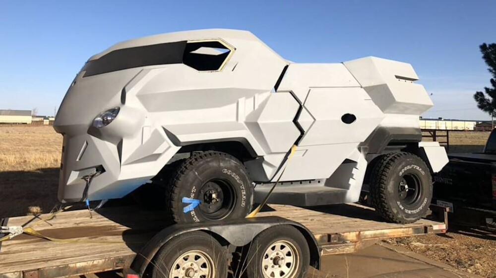 Judge Dredd futuristic monster movie truck is for sale