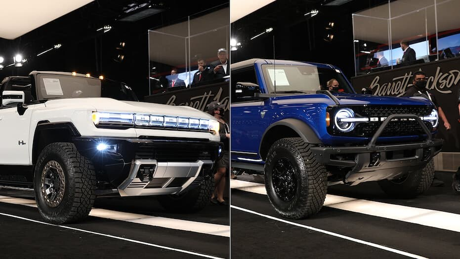 First GMC HUMMER EV and Ford Bronco auctioned for millions