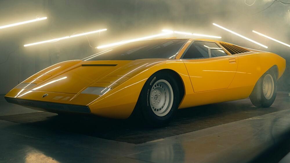 Lamborghini recreates the original Countach LP 500 concept it wrecked in 1974